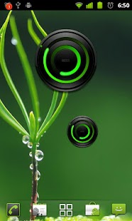 MIUI Spiral GREEN Analog Clock - screenshot thumbnail