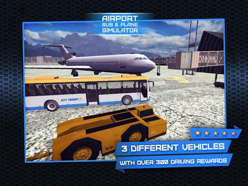 3D Airport Bus Plane Simulator