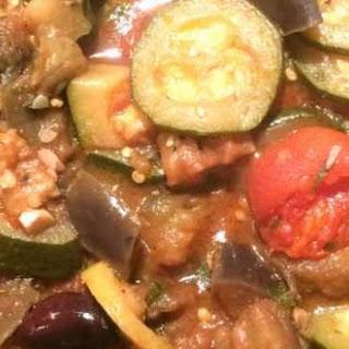 Roasted Eggplant Zucchini Caponata.