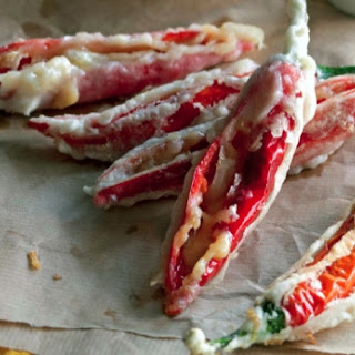 Tempura Cheese-Stuffed Chillies.