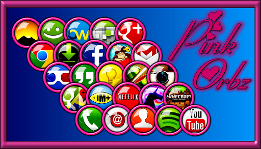 Pink Orbz Icon Pack
