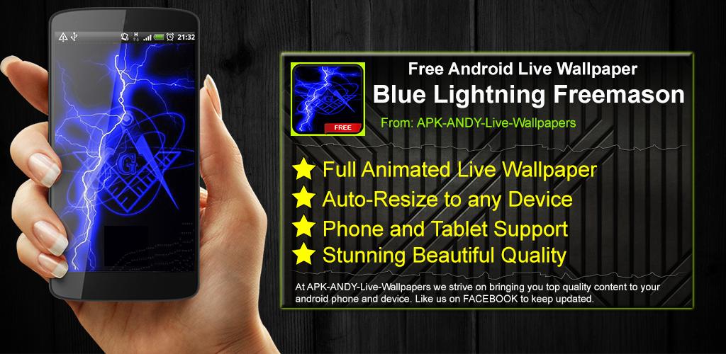 Download Blue Lightning Freemason Live Wallpaper Theme Lwp