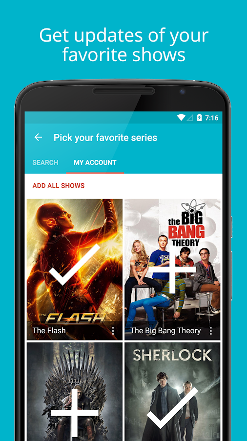 Series Addict Pro - TV Guide- screenshot