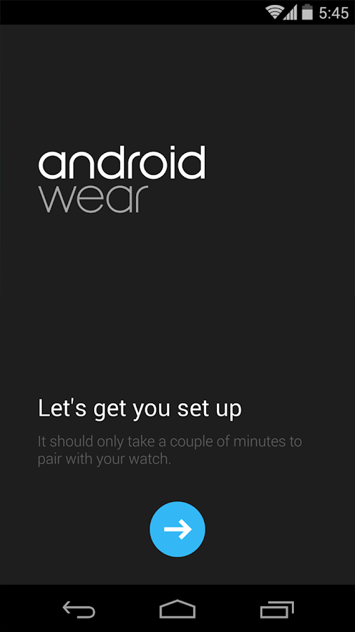 Android Wear - screenshot