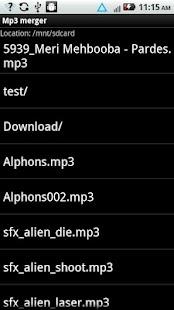 MP3 Merger- screenshot thumbnail