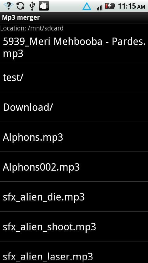 MP3 Merger- screenshot