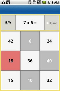one digit multiplication- screenshot thumbnail