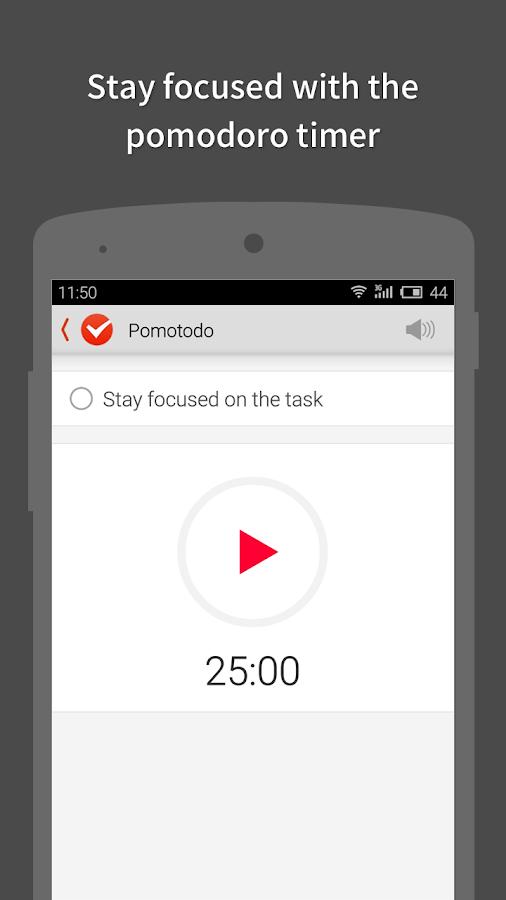 Pomotodo - Pomodoro meets GTD - screenshot