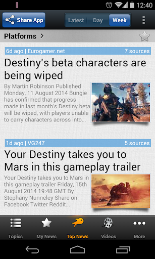 Unofficial Destiny Game News