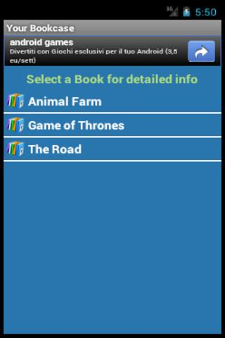 Digital Bookcase- screenshot