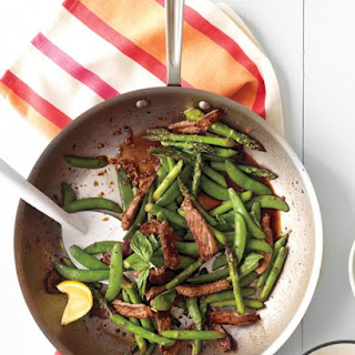 Beef, Snap Pea, and Asparagus Stir-Fry