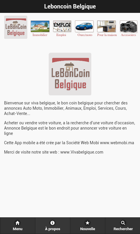 Annonce belgique android apps on google play for Achat maison belgique