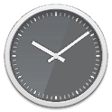 Glass clock widget -Me Clock icon