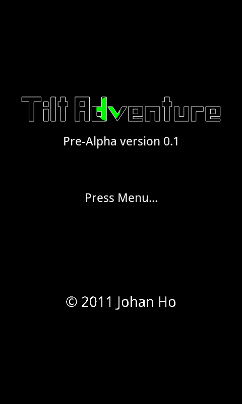 Tilt Adventure Pre-Alpha- screenshot