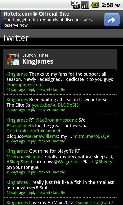 LeBron James Fan App - screenshot
