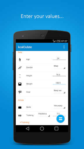 kcalCulate Material Design