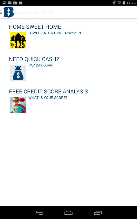 Box Elder County Credit Union- screenshot