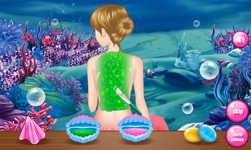 Mermaid spa games for girls- screenshot thumbnail