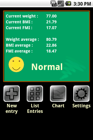 My BMI- screenshot