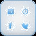 Ice Flower icon theme icon
