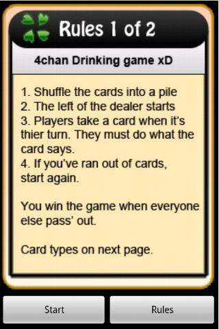 4Chan Drinking Game - screenshot