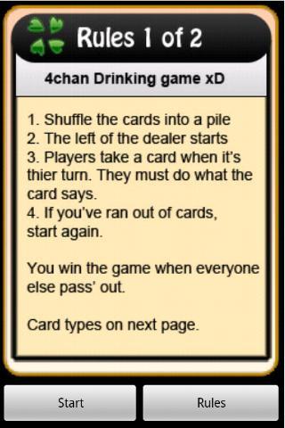 4Chan Drinking Game- screenshot