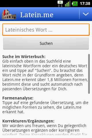 Latein-Wörterbuch (Offline) - screenshot