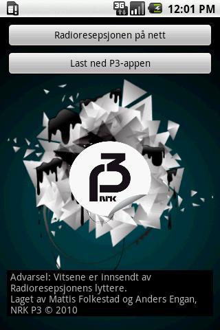 Radioresepsjonens Oneliner-app - screenshot