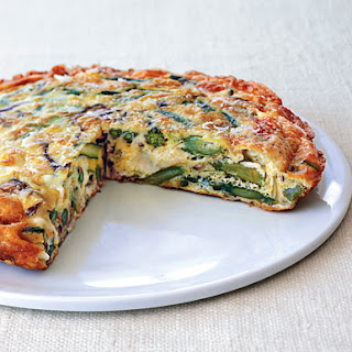Leek and Asparagus Frittata.