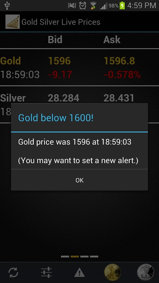Gold Silver Live Prices Free - screenshot