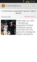 Screenshot of Basketball News
