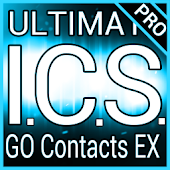 Blue ICS GO Contacts EX Theme