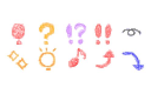 メール素材 - クレヨン01(記号)- screenshot thumbnail