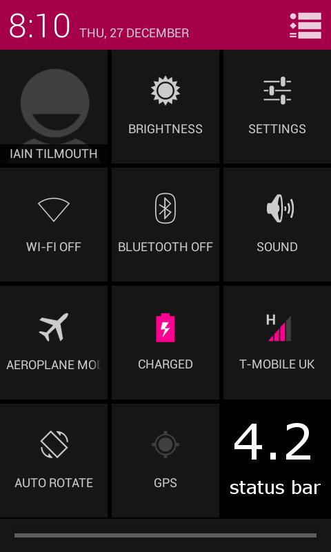 TESLA PINK CM / AOKP THEME- screenshot