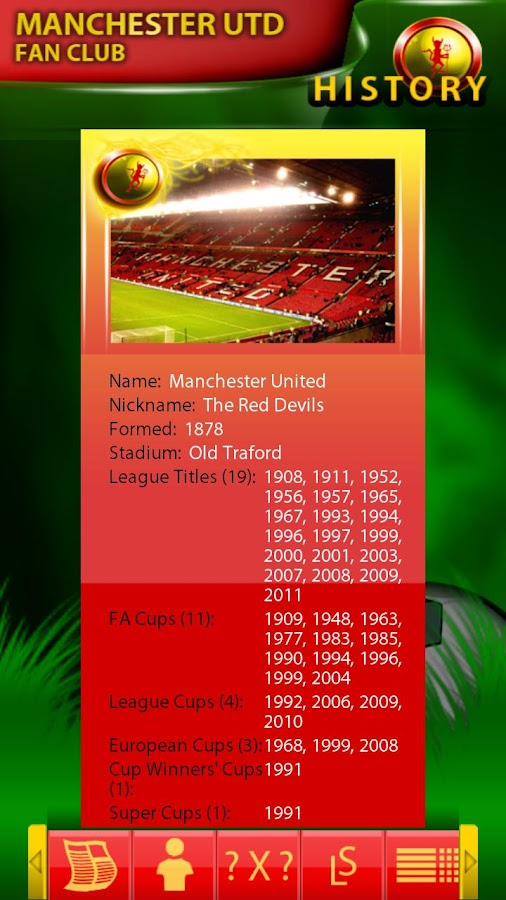 Manchester Utd Fan Club - screenshot