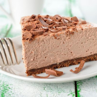 Easy, 3-Step No-Bake Chocolate Cheesecake.