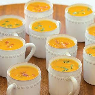 Sweet-Potato Soup with Prosciutto Crisps.