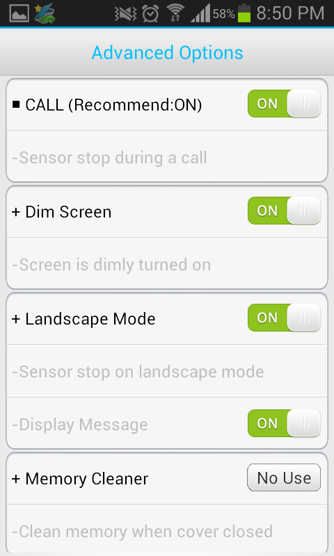 Smart Cover Pro (Screen Off) - screenshot