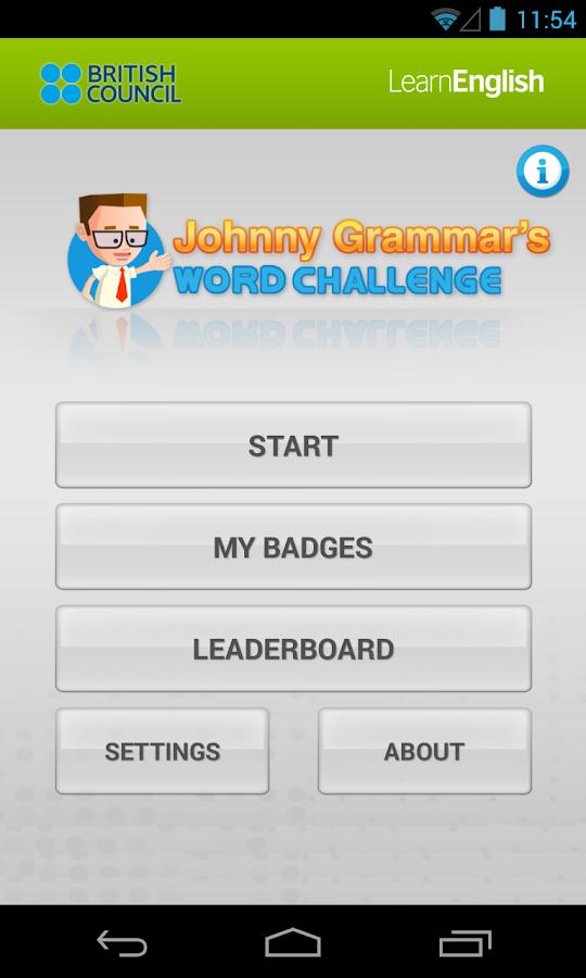 Johnny Grammar Word Challenge - screenshot