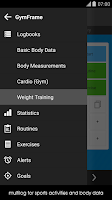 Screenshot of Gym Workout Log Book