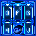 GO Keyboard Blue Tech Theme icon
