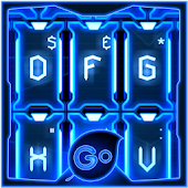 GO Keyboard Blue Tech Theme