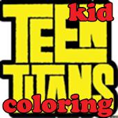 kid teen titans go coloring