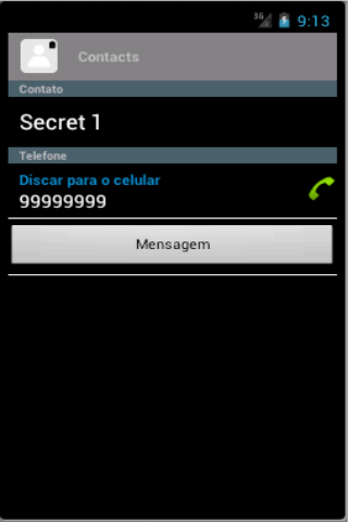 Secret Contacts- screenshot