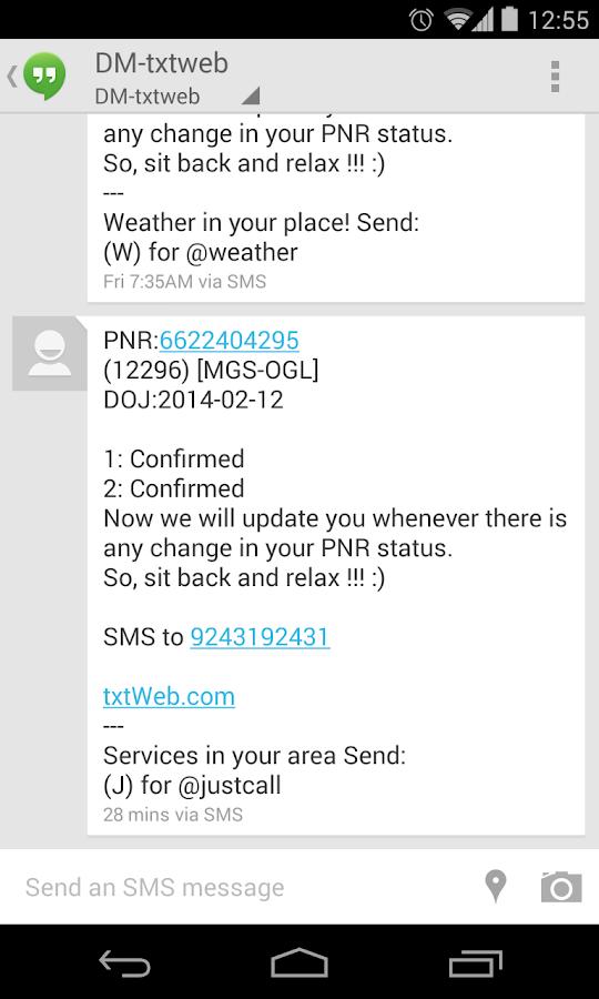 PNR Status: On&Offline Alerts - screenshot