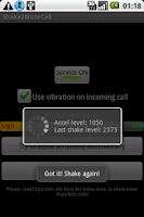 Screenshot of Shake2MuteCall