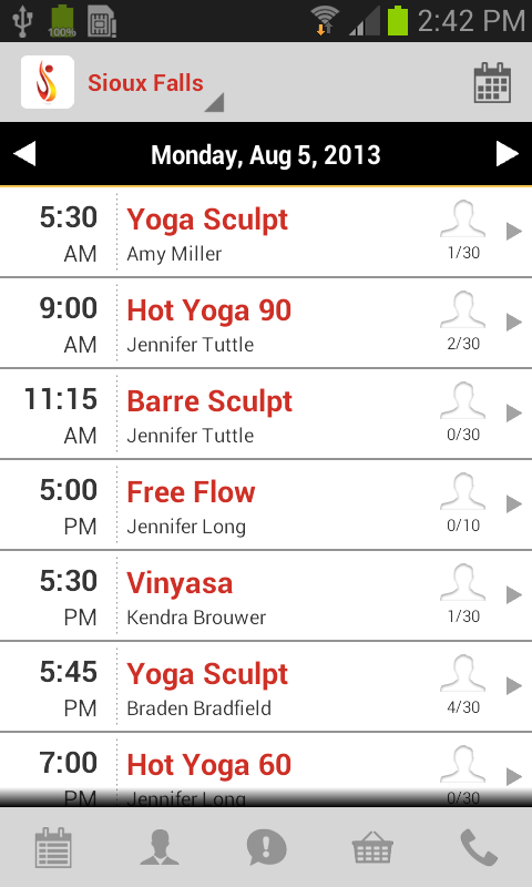 Santosha Hot Yoga - screenshot