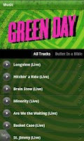 Screenshot of Green Day's official app