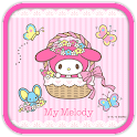 My Melody Crown Flowers Theme