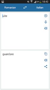 Italian Romanian Translator - náhled